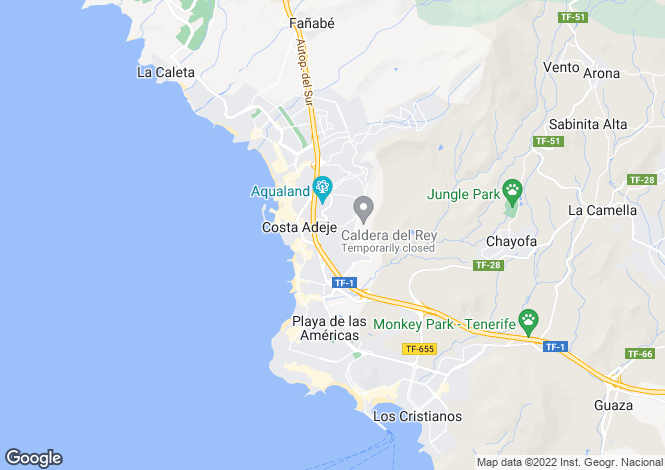 Map for Canary Islands, Tenerife, San Eugenio