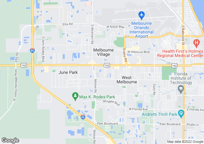 Map for USA - Florida, Brevard County, West Melbourne