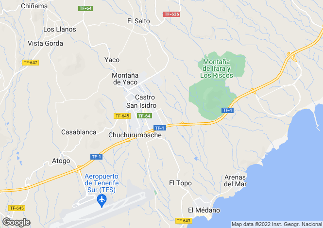 Map for San Isidro, Tenerife, Canary Islands