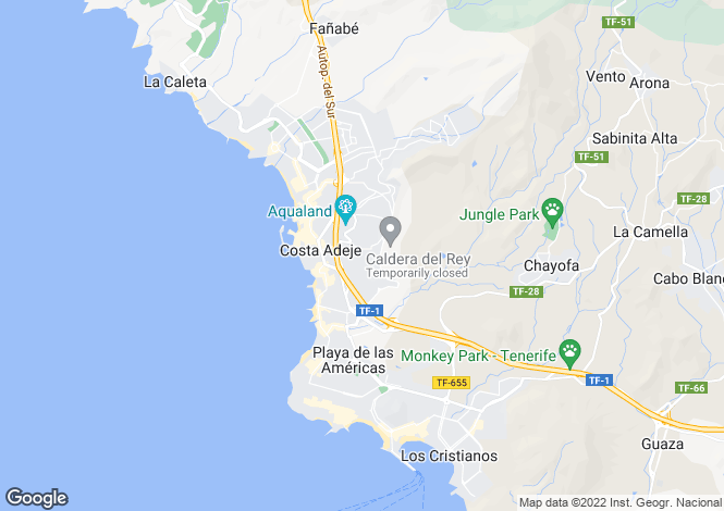 Map for San Eugenio Alto, Tenerife, Canary Islands