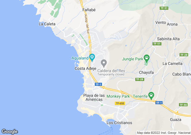 Map for Los Naranjos, San Eugenio Alto, Tenerife, Spain