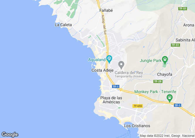 Map for Puerto Colon, Tenerife, Spain