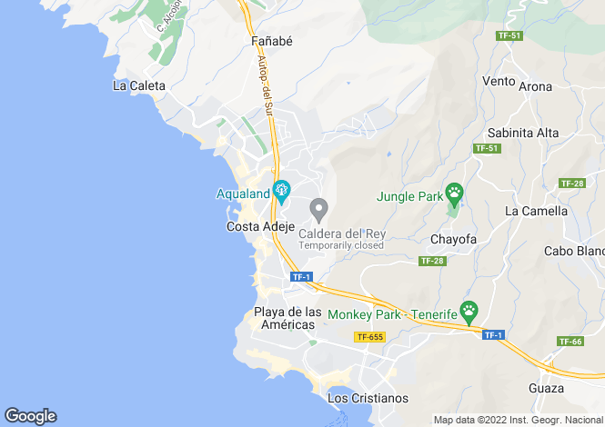Map for Club Villamar, San Eugenio Bajo, Tenerife, Spain
