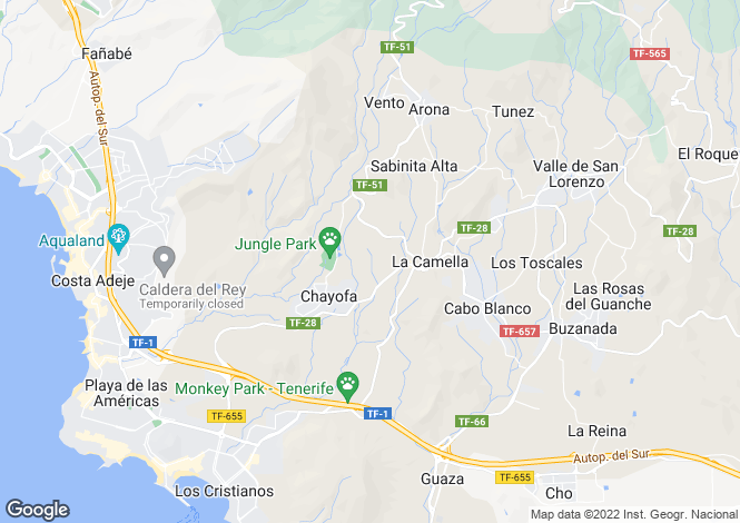 Map for La Camella, Tenerife, Canary Islands