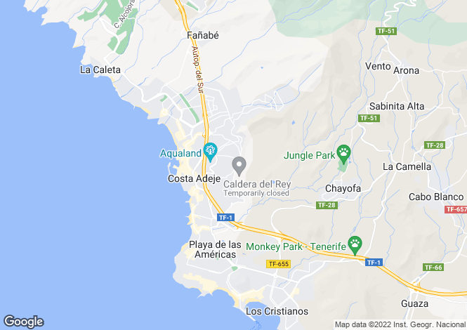 Map for Ocean View, San Eugenio Alto, Tenerife, Spain