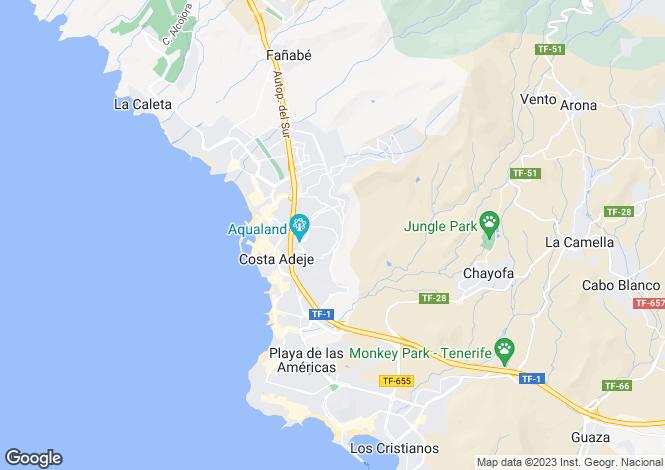Map for Costa Adeje, Tenerife, Spain
