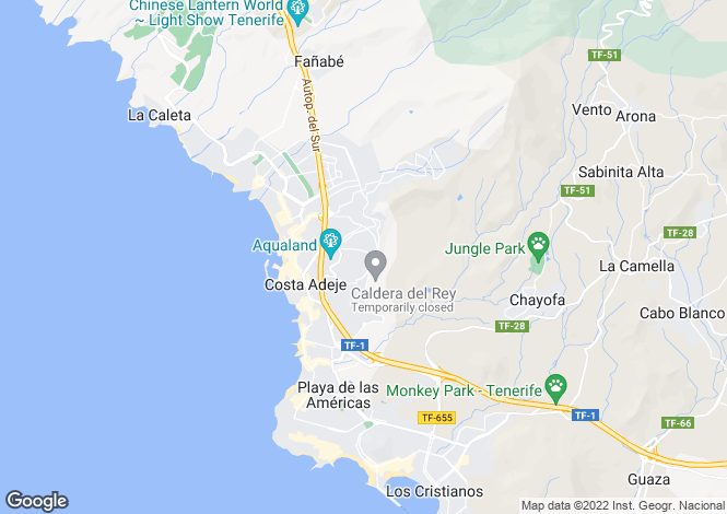 Map for Canary Islands, Tenerife, Torviscas