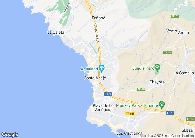 Map for Ocean Park, Torviscas Bajo, Tenerife, Spain