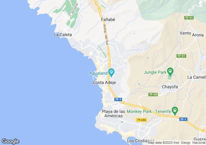 Map for Santa Maria, Torviscas Bajo, Tenerife, Spain