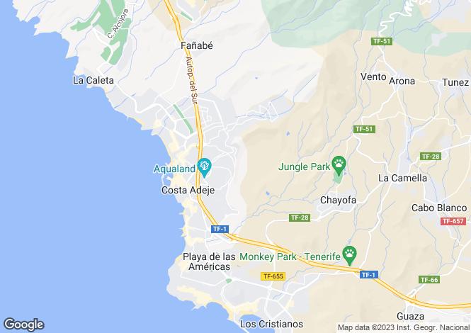 Map for San Eugenio Alto, Tenerife, Canary Islands