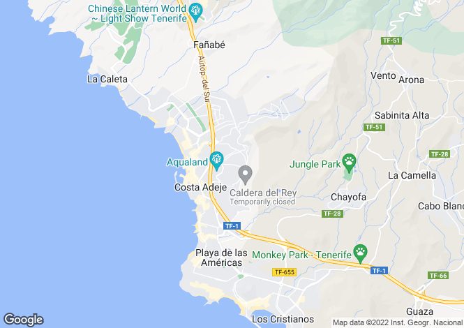 Map for Adeje, Tenerife, Canary Islands