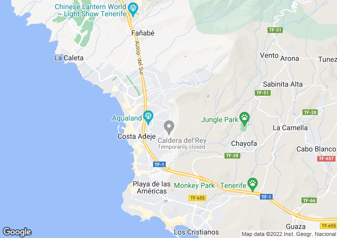 Map for Canary Islands, Tenerife, Costa Adeje