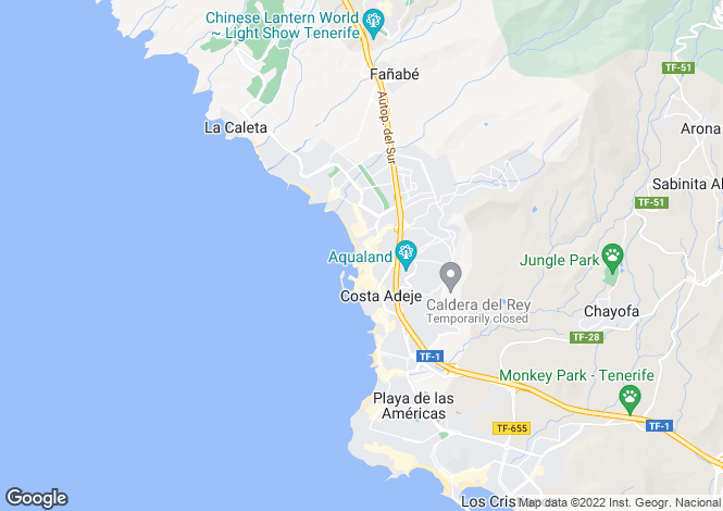 Map for Puerto Colon, Tenerife, Canary Islands