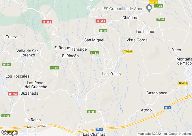 Map for San Miguel, Tenerife, Canary Islands