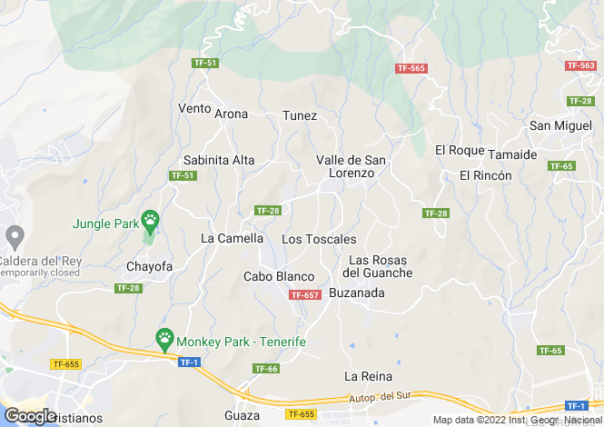 Map for Arona, Tenerife, Spain
