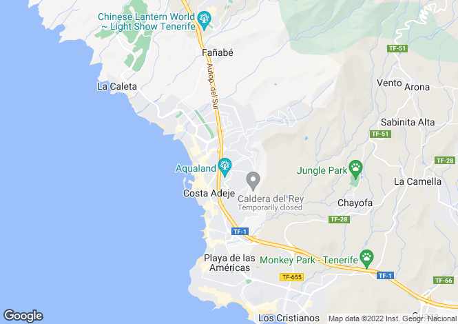 Map for Laguna Park II, Torviscas Alto, Tenerife, Spain