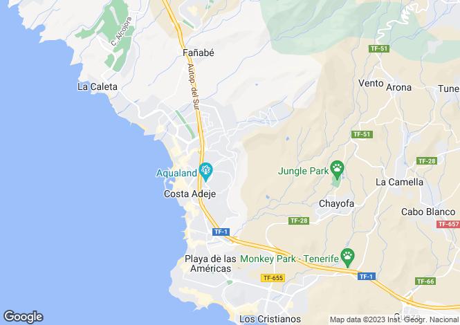 Map for La Baranda, San Eugenio Alto, Tenerife, Spain