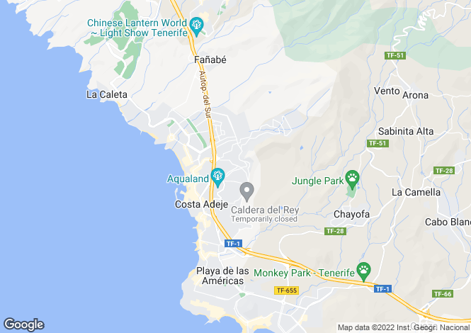 Map for Aloha Garden, Torviscas Alto, Tenerife, Spain