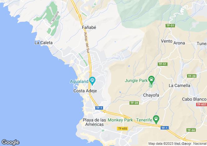 Map for Torviscas Alto, Tenerife, Canary Islands