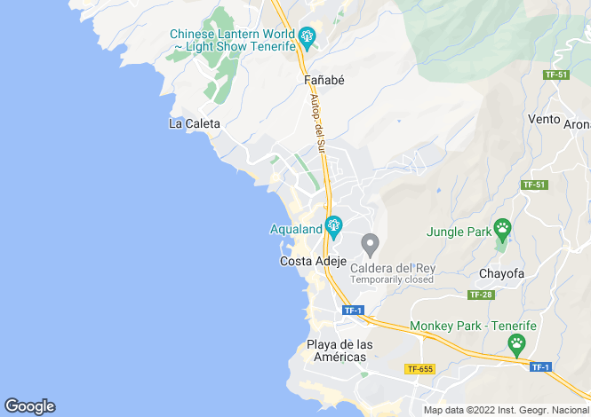 Map for Canary Islands, Tenerife, Torviscas Bajo