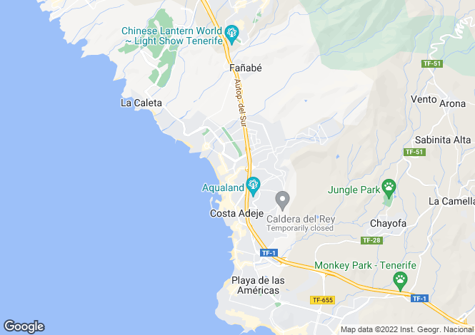 Map for Santa Monica Villas, Torviscas Alto, Tenerife, Spain