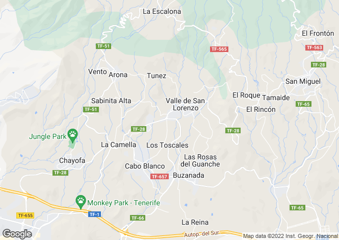 Map for Valle San Lorenzo, Tenerife, Spain