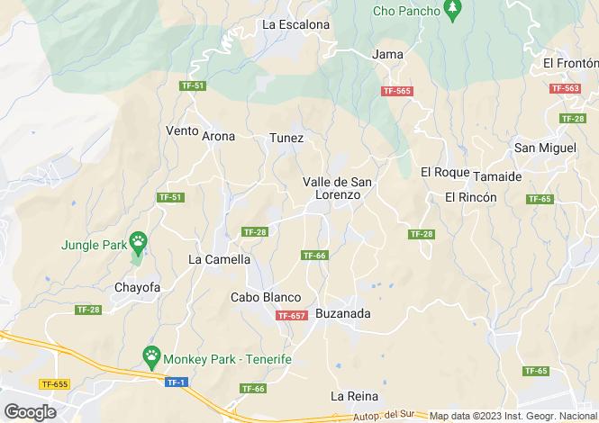 Map for Canary Islands, Tenerife, Valle de San Lorenzo