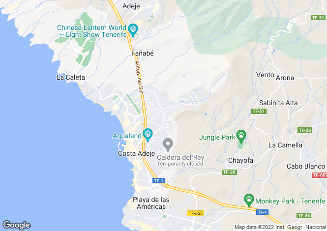 Map for Andalucia, Torviscas Alto, Tenerife, Spain