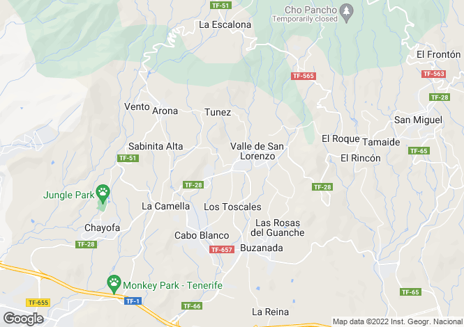 Map for Valle San Lorenzo, Tenerife, Canary Islands