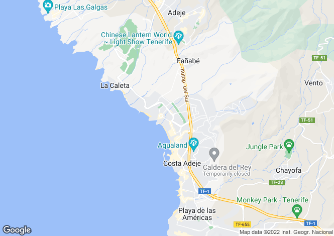 Map for El Duque, Tenerife, Canary Islands