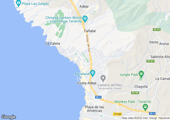 Map for Playa Fanabe, Tenerife, Spain