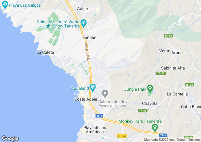Map for Los Girasoles, El Madronal, Tenerife, Spain