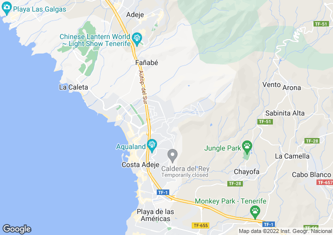 Map for Canary Islands, Tenerife, El Madronal