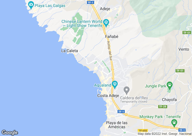 Map for Baobab, Fanabe, Tenerife, Spain