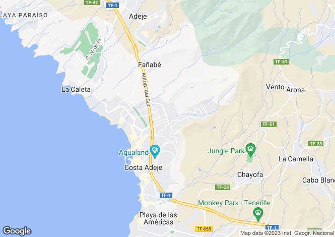 Map for Los Girasoles, El Madronal, Tenerife, Spain
