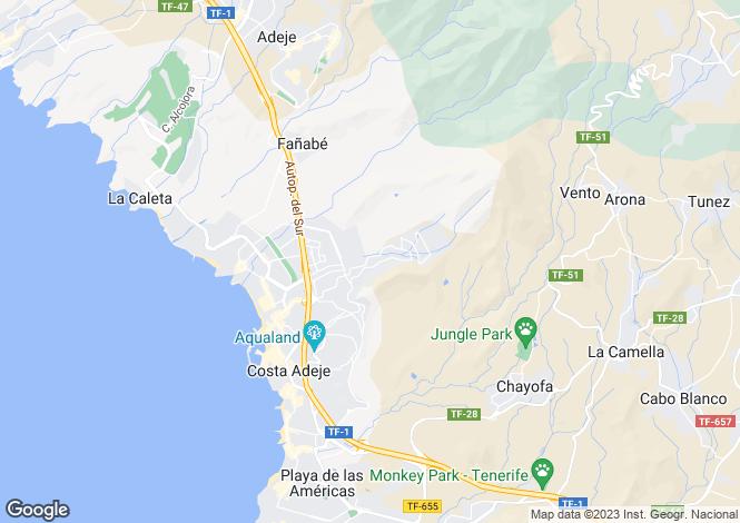 Map for Los Altos del Roque, Roque Del Conde, Tenerife, Spain