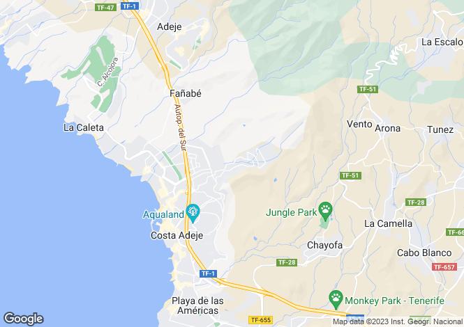 Map for Roque del Conde - Urbanization, Roque Del Conde, Tenerife, Spain