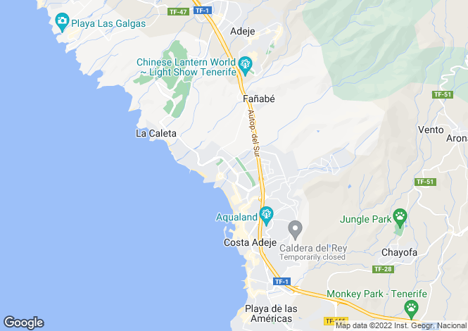 Map for Residencial La Duquesa, Playa del Duque, Tenerife, Spain