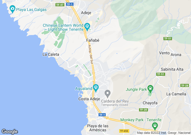 Map for El Madronal, Tenerife, Canary Islands