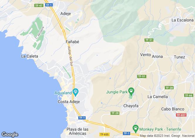 Map for Playa de las Americas, Tenerife, Spain