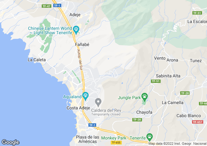 Map for Torviscas Alto, Tenerife, Canary Islands