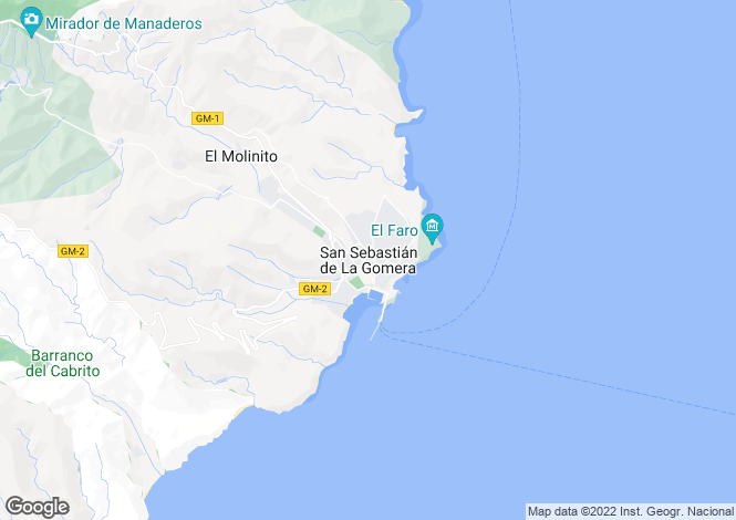 Map for San Sebastián, La Gomera, Canary Islands