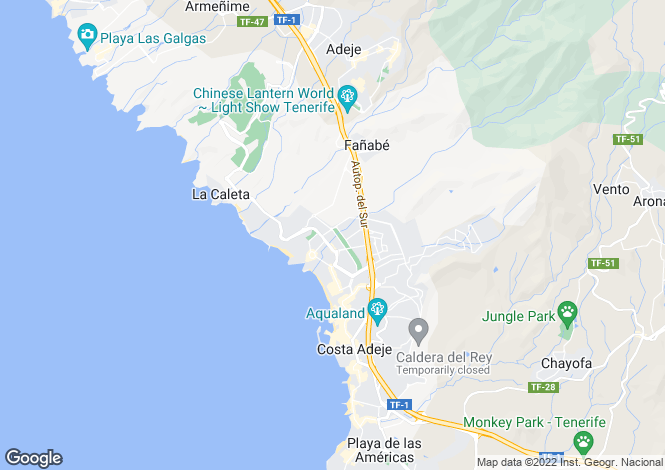 Map for El Duque - Residencial, Fanabe, Tenerife, Spain
