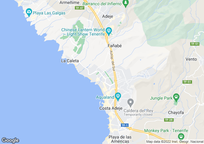 Map for Terrazas del Duque, Fanabe, Tenerife, Spain