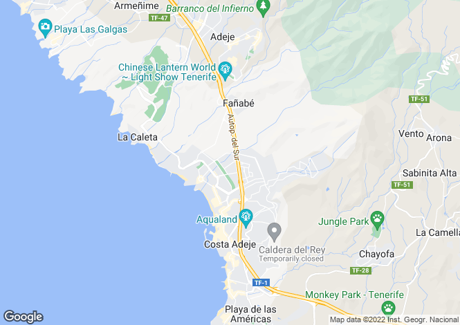 Map for Benimar - Residencial, Fanabe, Tenerife, Spain