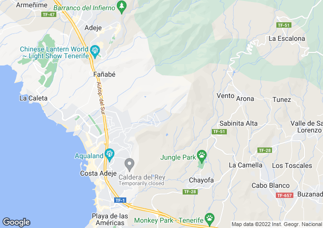 Map for Roque Del Conde, Tenerife, Canary Islands