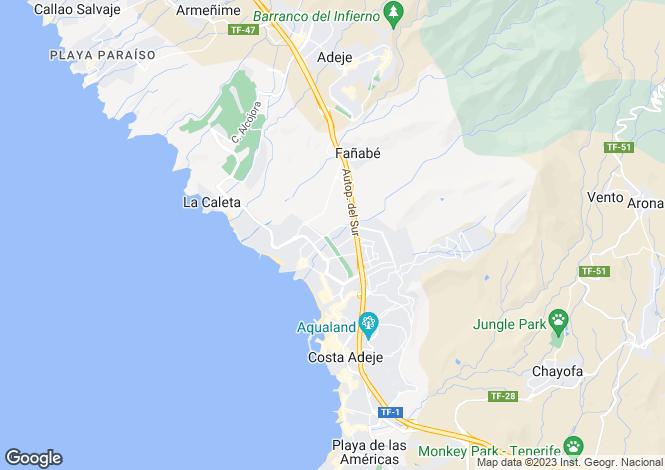 Map for Villas del Duque, Fanabe, Tenerife, Spain