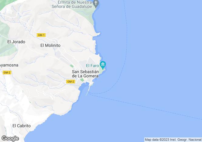 Map for San Sebastián, La Gomera, Canary Islands