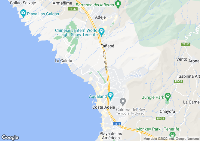Map for El Duque, Tenerife, Canary Islands