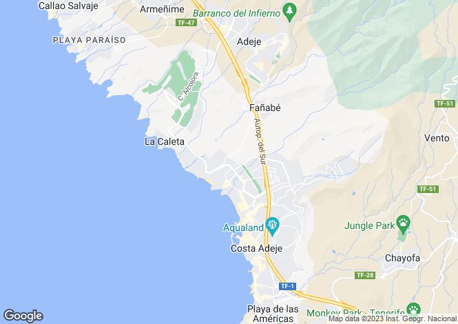 Map for Sunset Golf Villas, Fanabe, Tenerife, Spain